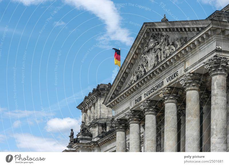 """""""Dem deutschen Volke"""" Schriftzug am Bundestag / Reichstag Kunst Kunstwerk Architektur Kultur Berlin Gesellschaft (Soziologie) Identität einzigartig Krieg"""