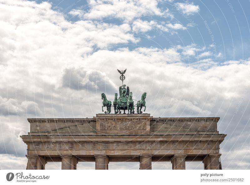 Brandenburger Tor - Berlin - Deutschland Kultur Stadt Hauptstadt Stadtzentrum Altstadt Menschenleer Sehenswürdigkeit Wahrzeichen Denkmal ästhetisch Dekadenz