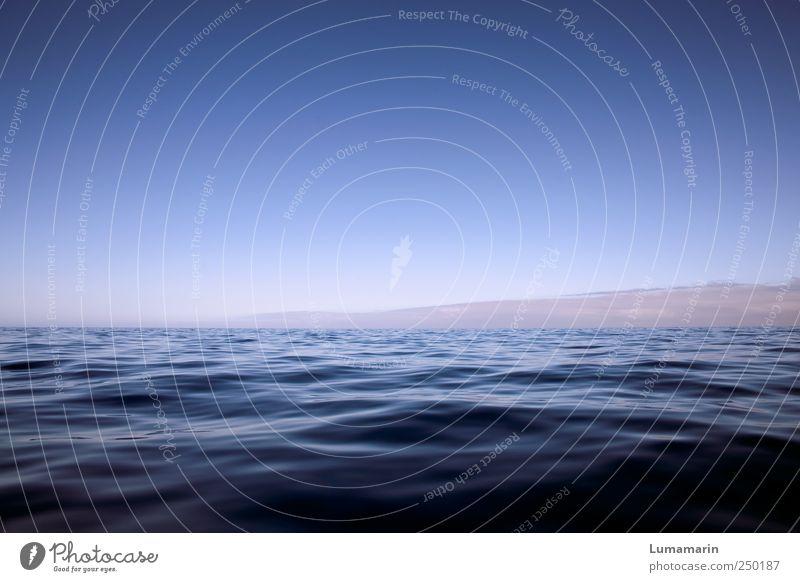silent sea Himmel Wasser schön blau Ferien & Urlaub & Reisen Meer Wolken Ferne Erholung kalt Umwelt Landschaft Stimmung Horizont groß frisch