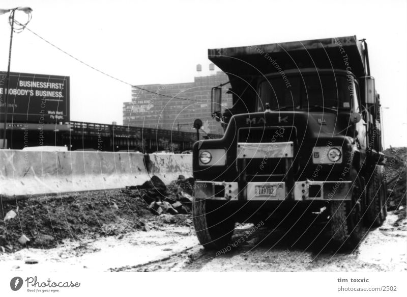 new_york.00 New York City Manhattan New York State Baustelle Lastwagen Stadt USA