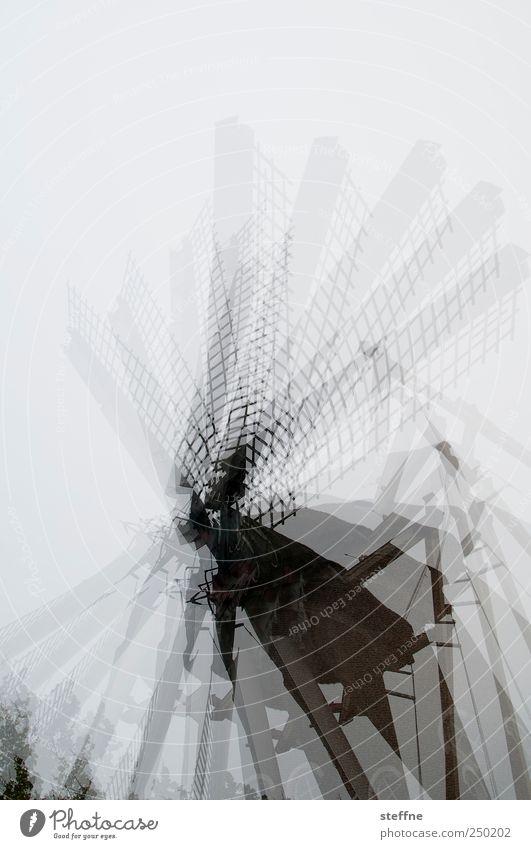 Spinning around wageningen Niederlande drehen Mühle Windmühle Windmühlenflügel Bewegung rotieren Doppelbelichtung Gedeckte Farben Außenaufnahme Experiment