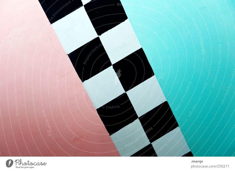 w/m blau schön Stil Hintergrundbild rosa Grafik u. Illustration Grenze diagonal türkis Teilung Verschiedenheit Geometrie kariert Gegenteil Symmetrie Neigung