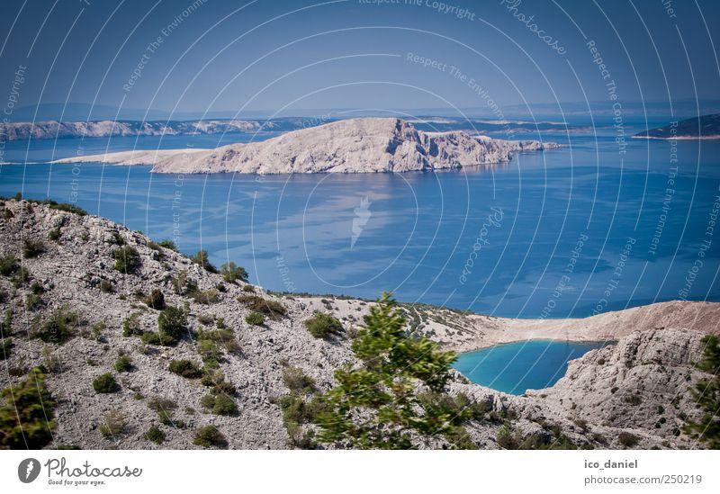 Küstenblick in Kroatien Himmel Natur blau Wasser Ferien & Urlaub & Reisen Meer Sommer Erholung Umwelt Landschaft Freiheit grau Luft Horizont Erde