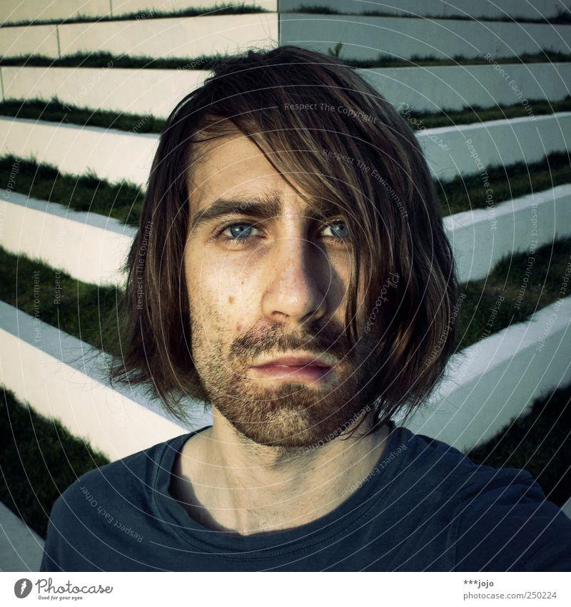 [200] poweruser. Mensch maskulin Junger Mann Jugendliche Erwachsene 18-30 Jahre Farbfoto Gedeckte Farben Außenaufnahme Porträt Blick Blick in die Kamera