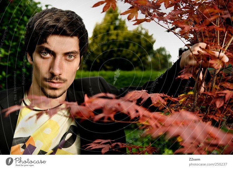 The Actor Mensch Natur Jugendliche Pflanze dunkel Umwelt Garten Erwachsene Kraft maskulin natürlich Lifestyle Coolness authentisch einzigartig T-Shirt