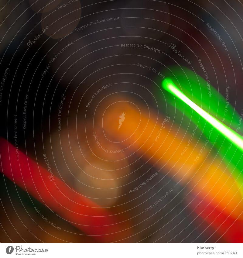 laser quest grün rot dunkel Stil orange Kunst Design Energie bizarr Surrealismus Inspiration innovativ Leuchtspur Lichtstreifen