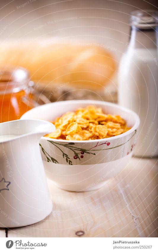 Frühstück Lebensmittel Getreide Brot Bioprodukte frisch Farbfoto Studioaufnahme Menschenleer Licht