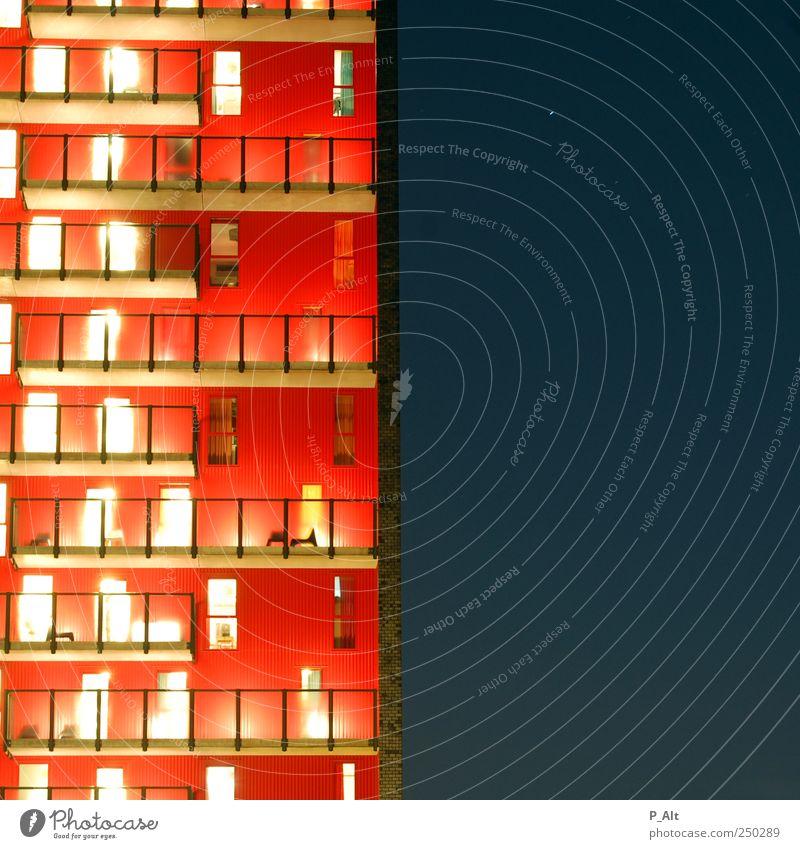architecture IV blau rot ruhig gelb Fenster Wand Architektur Mauer Stein Gebäude Metall braun Tür Glas Fassade