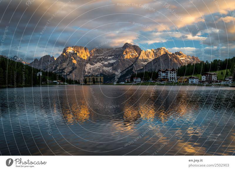 Nach dem Abendessen Ferien & Urlaub & Reisen Ferne Sommerurlaub Berge u. Gebirge Natur Landschaft Himmel Wolken Sonnenaufgang Sonnenuntergang Felsen Alpen
