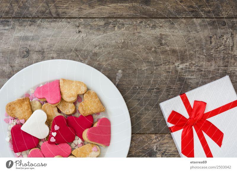 Valentinskekse und Geschenkverpackung Lebensmittel Foodfotografie Dessert Süßwaren Frühstück Feste & Feiern Valentinstag Muttertag Hochzeit Kasten süß braun