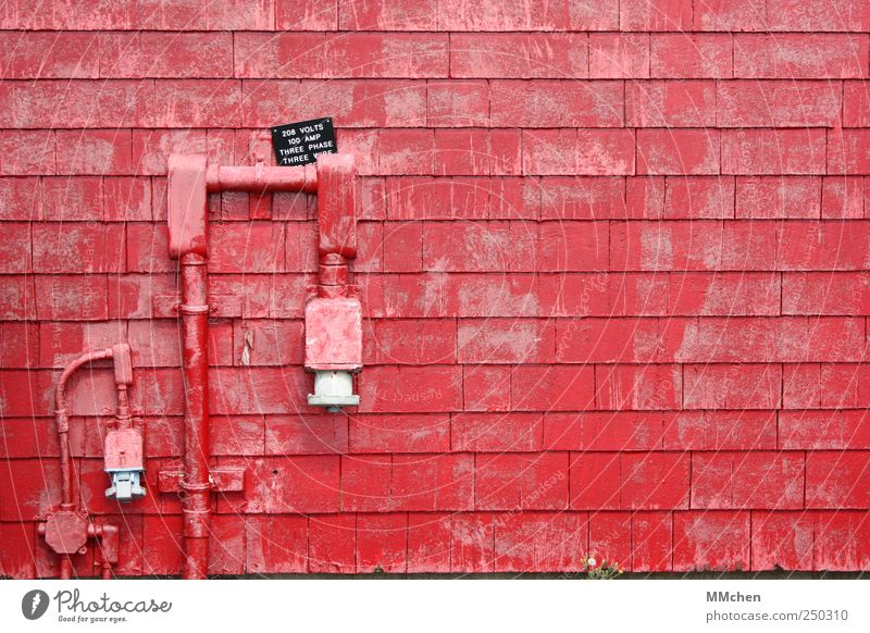 ...und Piggeldy ging mit Frederick nach Hause rot Haus Wand Mauer Technik & Technologie Leitung Schlauch Anschluss Zugang