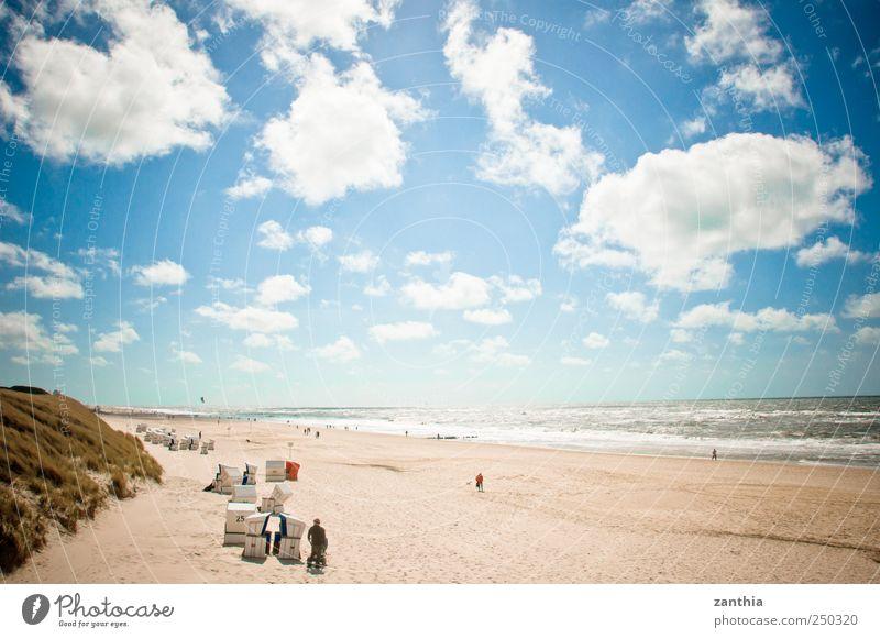 beach Natur Landschaft Himmel Wolken Horizont Sommer Schönes Wetter Wellen Küste Nordsee Meer ruhig Zufriedenheit Erholung Freizeit & Hobby Frieden Idylle