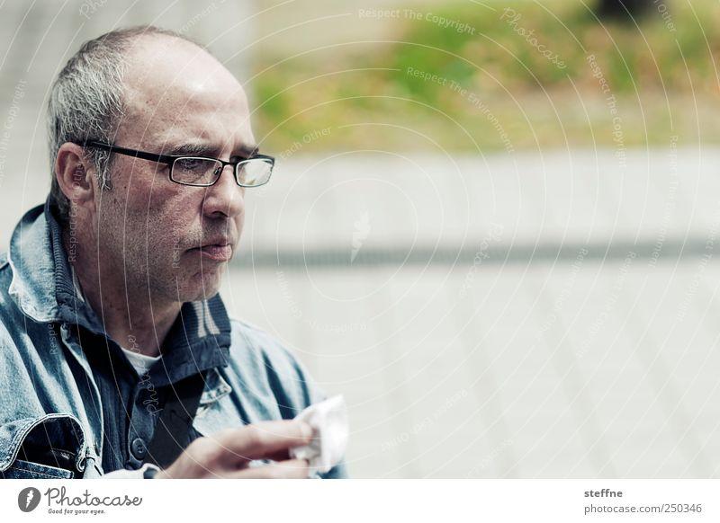 Der König der Möwen Mensch Mann Erwachsene maskulin Brille Konzentration