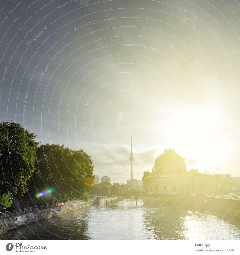 bode-museum Wasser Himmel Horizont Klima Pflanze Baum Grünpflanze Flussufer Stadt Hauptstadt Haus Sehenswürdigkeit Kunst Museum Museumsinsel Fernsehturm