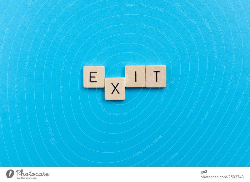 Exit Einsamkeit Spielen Tod Angst Schriftzeichen Zukunft Wandel & Veränderung bedrohlich planen Todesangst Ziel Zukunftsangst Partnerschaft Stress Ende