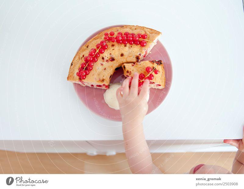 Kuchen, Beeren, Eis, Kind Lebensmittel Frucht Teigwaren Backwaren Dessert Speiseeis Süßwaren Ernährung Frühstück Kaffeetrinken Büffet Brunch Festessen
