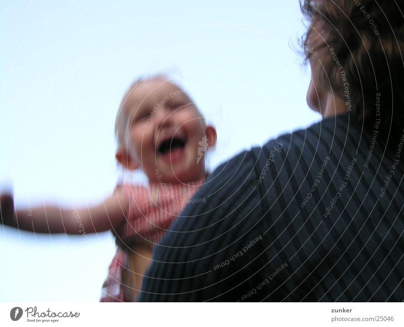 Das Ist Wie Fliegen Kind Mann Freude Freiheit Kopf Familie & Verwandtschaft Baby Mutter Eltern Tochter