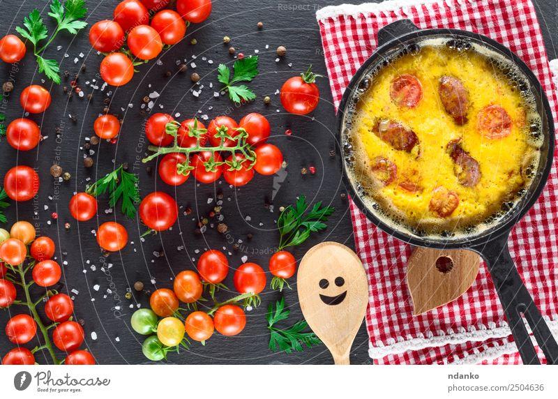 grün rot Speise Essen gelb oben frisch Tisch kochen & garen Gemüse Frühstück Tradition Essen zubereiten Abendessen Mahlzeit Top