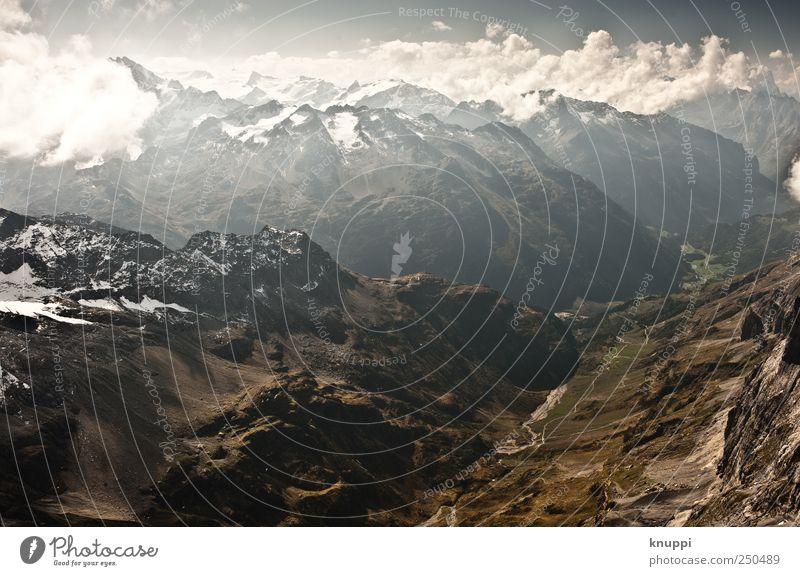Aussicht Umwelt Natur Landschaft Erde Himmel Wolken Sonnenaufgang Sonnenuntergang Sonnenlicht Schönes Wetter Felsen Alpen Berge u. Gebirge Gipfel