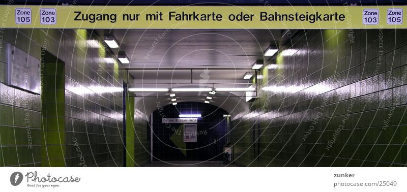 Zone 105/103 grün Verkehr Fliesen u. Kacheln Tunnel U-Bahn Bahnhof Verbote S-Bahn Bahnsteig Zone Fahrkarte