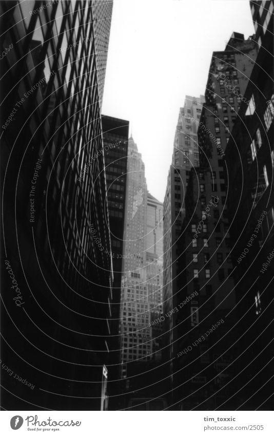 new_york.00 Stadt Haus dunkel USA New York City Manhattan New York State Wall Street