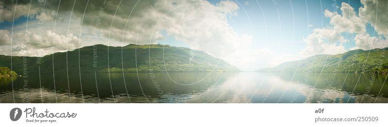 Loch Lommond Umwelt Natur Landschaft Wasser Himmel Sonnenlicht Sommer Klima Schönes Wetter See Schottland England Europa groß natürlich blau grün