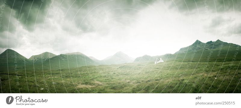 white house Umwelt Natur Landschaft Erde Himmel Wolken Sommer Wetter Schottland Europa Haus alt Arbeit & Erwerbstätigkeit atmen gebrauchen beobachten