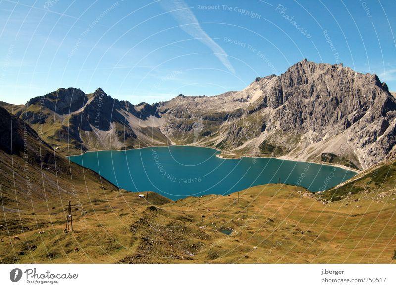 Freibad grün blau Sommer Ferien & Urlaub & Reisen ruhig Ferne Freiheit Berge u. Gebirge Landschaft braun Felsen wandern Schwimmen & Baden außergewöhnlich Alpen