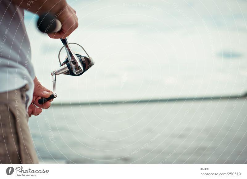 Dreh- und Angelpunkt Mensch Himmel Mann Natur Wasser Ferien & Urlaub & Reisen Erwachsene Umwelt See Luft Horizont Freizeit & Hobby Klima maskulin Tourismus authentisch
