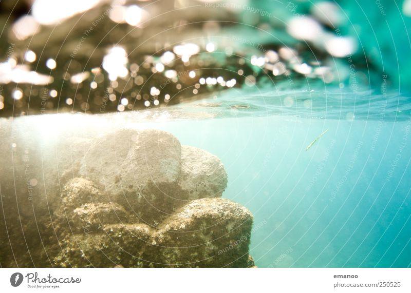 waterworld Natur Wasser Ferien & Urlaub & Reisen Meer Sommer Strand gelb Küste Luft Wellen Schwimmen & Baden Felsen Ausflug Tourismus Lifestyle Italien