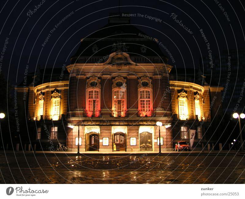Musikhalle Hamburg Nacht Licht Gebäude historisch Konzert Oper alt Architektur