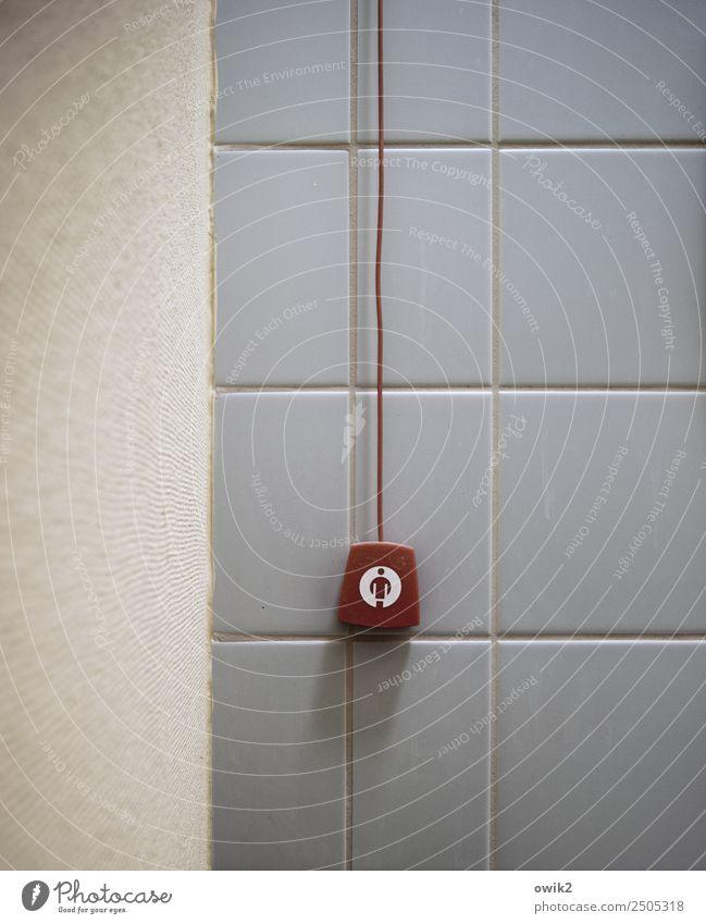 Schwester! Krankenhaus Toilette Signalanlage Mauer Wand Fliesen u. Kacheln Stein Kunststoff Zeichen Piktogramm Körper abstrakt einfach hängen Gesundheitswesen