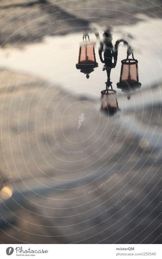 down under. Ferien & Urlaub & Reisen Straße Kunst ästhetisch Romantik Reisefotografie Italien Laterne Fernweh Surrealismus Pfütze Tradition Venedig