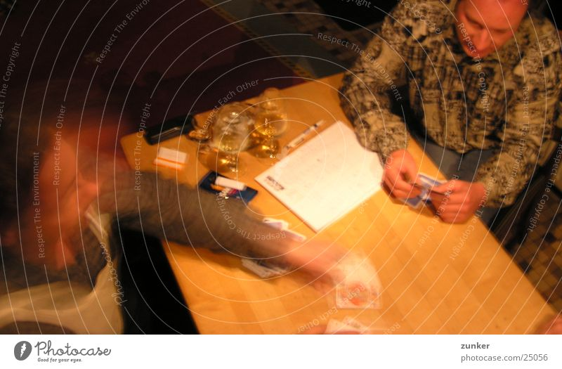 achtzehn Freude Blatt Spielen Bewegung Bier Postkarte Zigarette Kartenspiel Skat