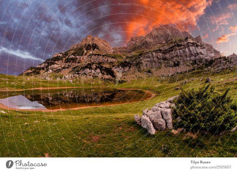 Himmel Natur Ferien & Urlaub & Reisen blau schön Landschaft Wolken Berge u. Gebirge Umwelt natürlich Wiese Tourismus See Felsen Freizeit & Hobby wild