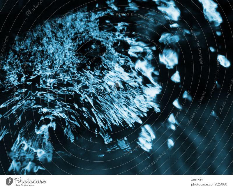 wellenbewegung Licht Wellen Wasserwirbel blau Reflexion & Spiegelung