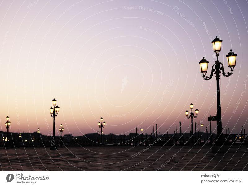 Platz der Laternen. Kunst ästhetisch Zufriedenheit Idylle Venedig Veneto San Marco Basilica Laternenpfahl Romantik Markusplatz Italien Italienisch viele