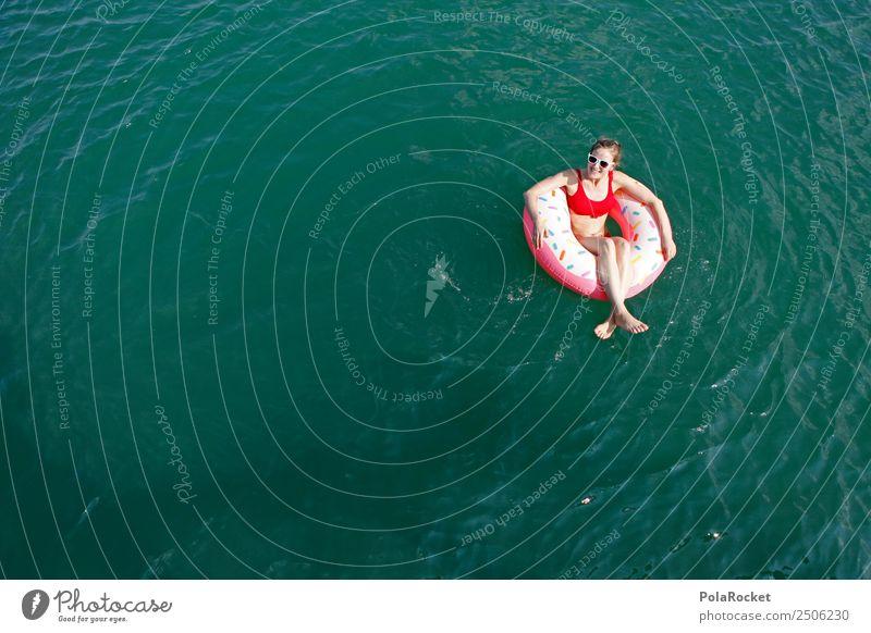 #A# Summer-Time Frau Ferien & Urlaub & Reisen Sommer Sonne Erholung ruhig Wärme See Schwimmen & Baden Freizeit & Hobby ästhetisch Schönes Wetter Jugendkultur
