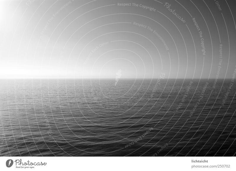 und es ward Licht Wasser Meer Landschaft Ferne Küste Horizont Wellen Aussicht Schönes Wetter Urelemente Ostsee Mitte Wolkenloser Himmel harmonisch Meditation