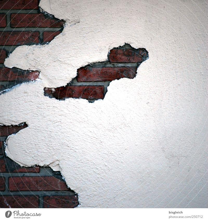 Wandkarte II rot grau Stein Backstein Landkarte ziegelrot