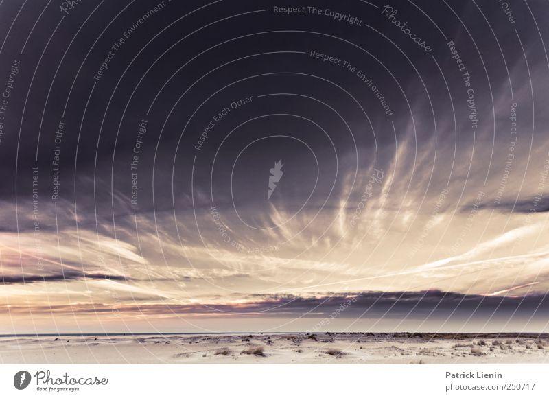 Spiekeroog | Neverending Himmel Natur Ferien & Urlaub & Reisen Sommer Meer Strand Wolken Ferne Umwelt Landschaft Freiheit Sand Küste Luft Stimmung Wetter