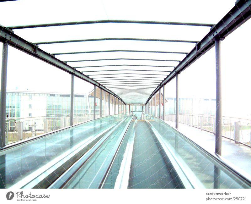 flucht Rolltreppe Dach Tunnel Geschwindigkeit Architektur Flucht