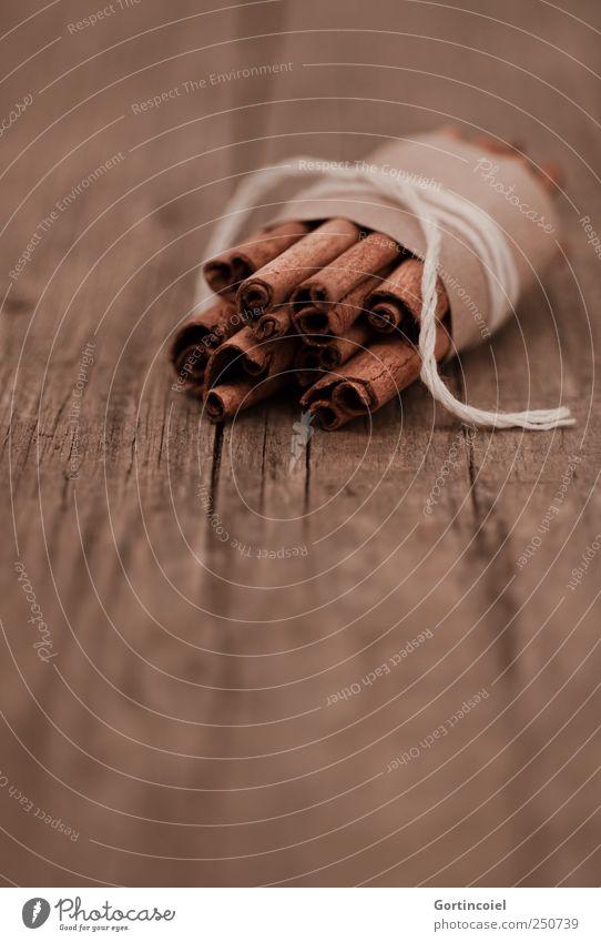 Zimt braun Lebensmittel Kräuter & Gewürze lecker Duft Spirale Weihnachtsdekoration Foodfotografie Ernährung aromatisch Würzig Geruch Nahaufnahme Slowfood