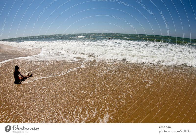 beachlife Kind Mensch Himmel Jugendliche Wasser blau schön Freude Sommer Ferien & Urlaub & Reisen Strand Meer Freiheit Junge Sand Küste