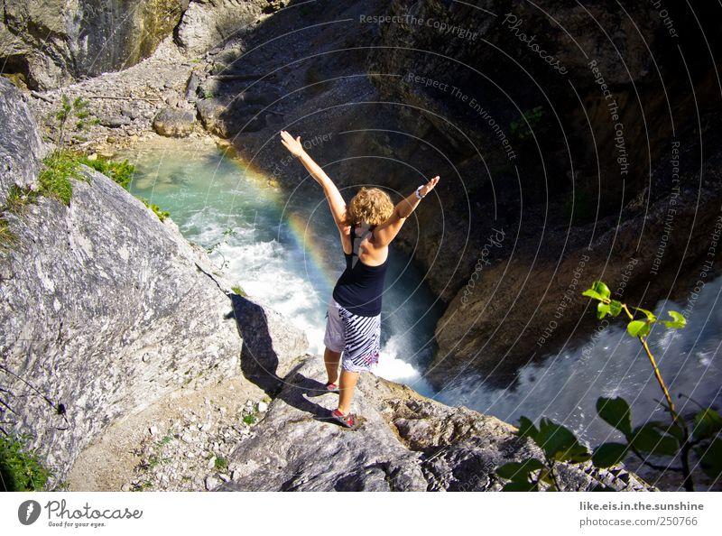 am ende des regenbogens Leben harmonisch Wohlgefühl Sinnesorgane Erholung Meditation Ferien & Urlaub & Reisen Tourismus Ausflug Abenteuer Klettern Bergsteigen