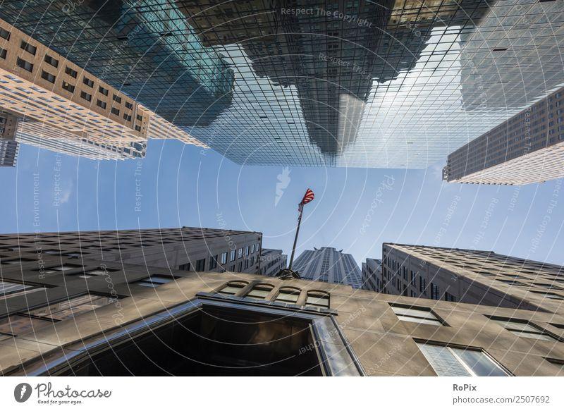 Straßenschluchten in new York Stadt Architektur Gebäude Business Tourismus Büro modern Hochhaus USA Beton Baustelle entdecken Bauwerk Skyline Städtereise