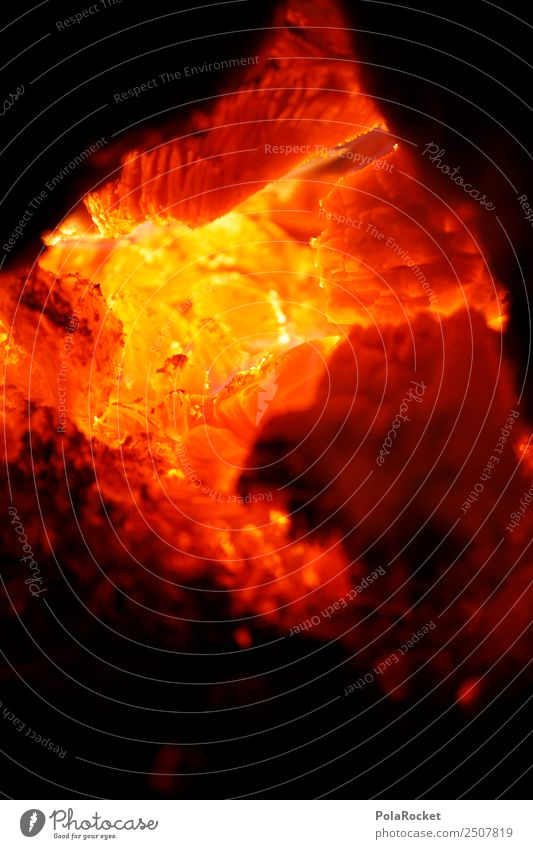 #A# Hitzerot Wärme ästhetisch Feuer Brand Feuerstelle Lagerfeuerstimmung Glut heiß brennen orange gelb Farbfoto mehrfarbig Außenaufnahme Detailaufnahme