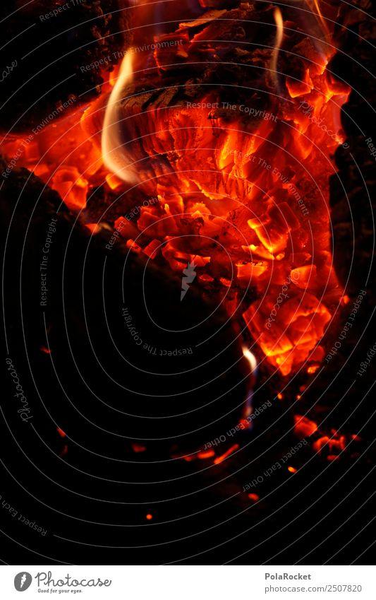 #A# Feurio II Feuer ästhetisch Brand Feuerstelle Lagerfeuerstimmung Glut heiß Wärme Farbfoto Gedeckte Farben Außenaufnahme Detailaufnahme Experiment abstrakt