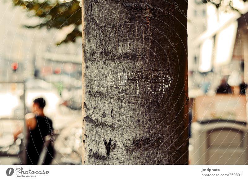 LAPTOP Analog Pixel Baum Graffiti Holz Denken Kunst Schilder & Markierungen Design Schriftzeichen außergewöhnlich Bildung Grafik u. Illustration schreiben