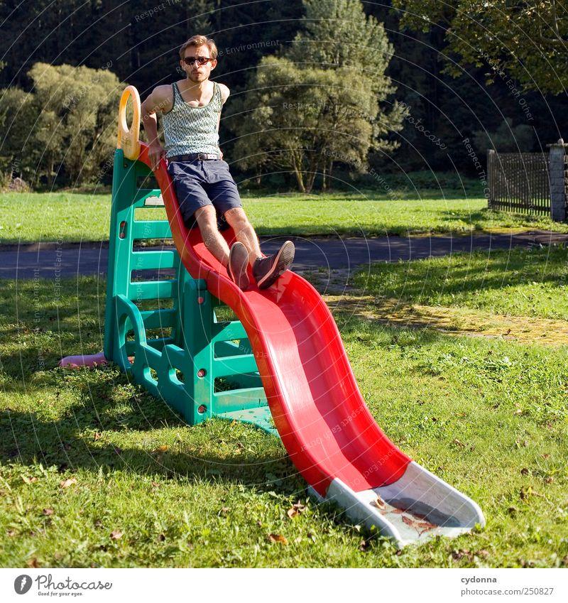 Guter Rutsch Lifestyle Stil Design Freude Leben Freizeit & Hobby Spielen Kindergarten Mensch Junger Mann Jugendliche 18-30 Jahre Erwachsene Umwelt Natur Sommer